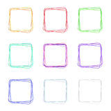 Set of abstract icons. Set of colorful empty icons for web with abstract stroke Stock Photos
