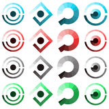 Set of abstract icons such logo Stock Photography