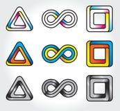 Set of abstract infinite logos Stock Image