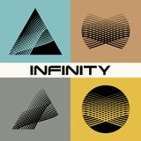 Set. Abstract infinity logo design template Stock Images