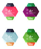 Set of  abstract infographics content boxes. Modern business colorful templates Royalty Free Stock Photo