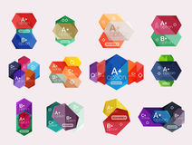 Set of  abstract infographics content boxes. Modern business colorful templates Stock Photo