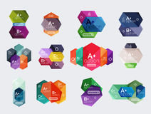 Set of  abstract infographics content boxes. Modern business colorful templates Royalty Free Stock Photography