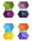 Set of  abstract infographics content boxes. Modern business colorful templates Royalty Free Stock Images