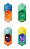 Set of  abstract infographics content boxes. Modern business colorful templates Stock Photos