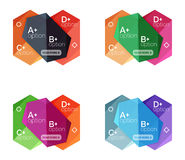 Set of  abstract infographics content boxes. Modern business colorful templates Royalty Free Stock Photos