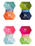 Set of  abstract infographics content boxes. Modern business colorful templates Stock Image