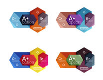 Set of  abstract infographics content boxes Royalty Free Stock Photography