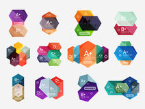 Set of  abstract infographics content boxes. Modern business colorful templates Royalty Free Stock Image
