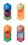 Set of  abstract infographics content boxes. Modern business colorful templates Stock Photography