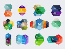Set of  abstract infographics content boxes Stock Photos