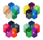 Set of  abstract infographics content boxes Royalty Free Stock Images