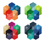 Set of  abstract infographics content boxes Royalty Free Stock Image