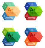 Set of  abstract infographics content boxes. Modern business colorful templates Stock Images