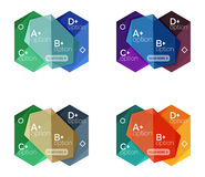 Set of  abstract infographics content boxes Stock Photography