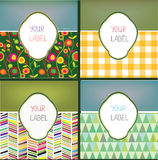 Set of abstract labels with pattern for the products Royalty Free Stock Photography