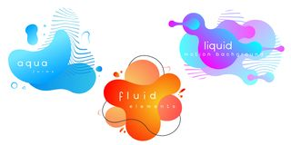 Set of abstract liquid elements ,gradient banners with flowing fluid forms. Abstract background. EPS 10, vector vector illustration