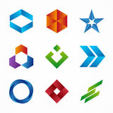 Set of abstract logo design template. Abstract logo. Swirl logo. Circle logo. Ribbon logo. Arrow logo. Star logo Royalty Free Stock Photo