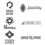 Set of abstract logo, emblem, label or logotype Stock Photography