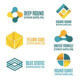 Set of abstract logo, emblem, label or logotype Stock Photos