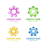 Set of abstract Loops infinity vector logo, sign Royalty Free Stock Photos