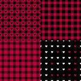 Set Abstract male style seamless pattern. Eastern Checkered black and red trend palette. Vector Fashion background. Set Abstract male style seamless pattern royalty free illustration