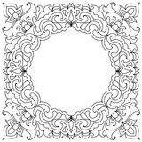 Set Abstract mandala frame mehndi elements Royalty Free Stock Photos