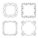 Set Abstract mandala frame mehndi elements Stock Images