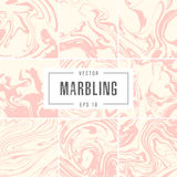 Set abstract marble backgrounds vector ink texture Stock Photography