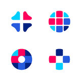 Set of abstract medical vector logo templates or icons Royalty Free Stock Photos