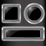 Set of  abstract metal button Royalty Free Stock Images