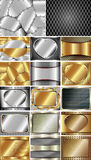 Set of abstract metal background 2 Stock Photo