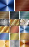 Set of abstract metal background Royalty Free Stock Images