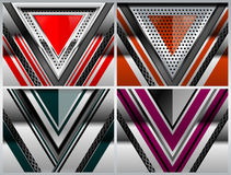 Set Abstract Metal Backgrounds Stock Photography