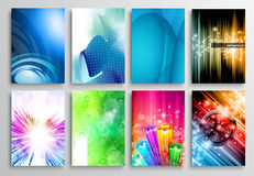 Set of Abstract modern backgrunds for flyer and  brochure design Stock Photo