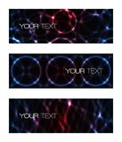 Set of abstract modern futuristic banners Royalty Free Stock Images