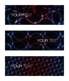 Set of abstract modern futuristic banners Stock Images