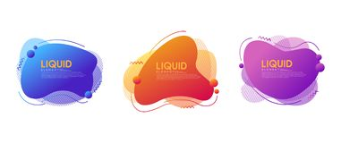 Set of abstract modern graphic elements with dynamical colored forms and line. Modern Template for the design of a logo, flyer or stock illustration