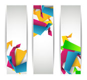 Set of abstract modern header banner Royalty Free Stock Image