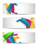 Set of abstract modern header banner Stock Image