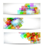 Set of abstract modern header banner Stock Photos