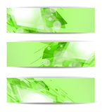 Set of abstract modern header banner Royalty Free Stock Photography