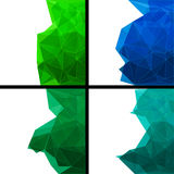 Set of  abstract modern style backgrounds Stock Photography