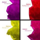 Set of  abstract modern style backgrounds Royalty Free Stock Image