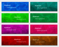 Set of  abstract modern style banners. Vector illustration Royalty Free Stock Photography