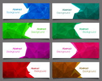 Set of  abstract modern style banners. Vector illustration Royalty Free Stock Image