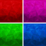 Set of abstract modern style triangle backgrounds Stock Photo