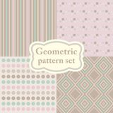 Set of abstract modern vector paper for scrapbook pastel colors. Stock Photography