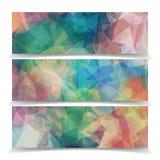Set of Abstract ModernTriangular Polygonal headers. Set of Abstract Light ModernTriangular Polygonal headers royalty free illustration