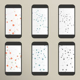 Set of abstract molecule compounds for screens Royalty Free Stock Images